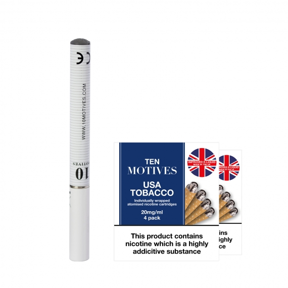 Ten Motives V2 Menthol Rechargeable Electronic Cigarette Bundle