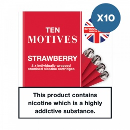 10 x 10 Motives - Strawberry Flavour 16mg Refills