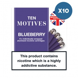 10 x 10 Motives - Blueberry Flavour 16mg Refills