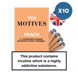 10 x 10 Motives - Peach Flavour 16mg Refills