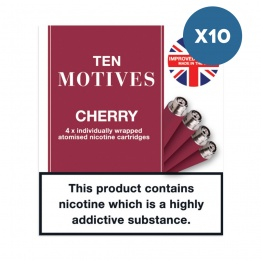 10 x 10 Motives - Cherry Flavour 16mg Refills