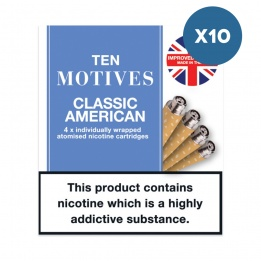 10 x 10 Motives - Classic American Flavour 16mg Refills
