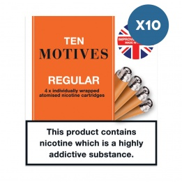 10 x 10 Motives - Regular Tobacco Flavour Refills