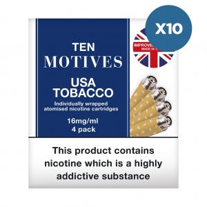 10 x 10 Motives USA Tobacco Flavour Refills