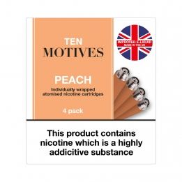 Ten Motives - Peach Flavour 16mg Refills