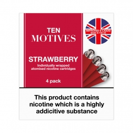 Ten Motives - Strawberry Flavour 16mg Refills