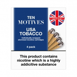 Ten Motives USA Tobacco Flavour Refills