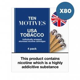 80 x Ten Motives USA Tobacco Flavour Refills