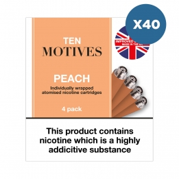 40 x Ten Motives - Peach Flavour 16mg Refills