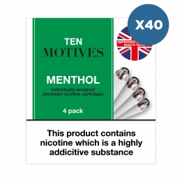 40 x Ten Motives - Menthol Flavour Refills