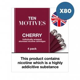 80 x Ten Motives - Cherry Flavour 16mg Refills