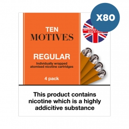 80 x Ten Motives - Regular Tobacco Flavour Refills