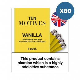 80 x Ten Motives - Vanilla Flavour 16mg Refills