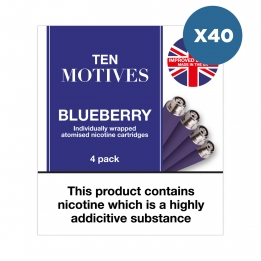 40 x Ten Motives - Blueberry Flavour 16mg Refills