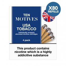 80 x Refill Cartridges - Ten Motives - USA Tobacco Flavour Refills