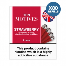 80 x Refill Cartridges - Ten Motives - Strawberry Flavour 16mg Refills