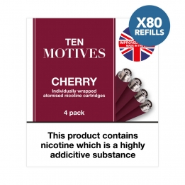 80 x Refill Cartridges - Ten Motives - Cherry Flavour 16mg Refills