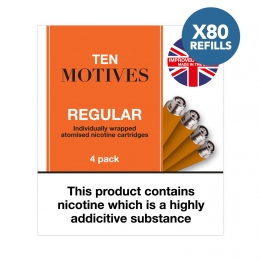 80 x Refill Cartridges - Ten Motives - Regular Tobacco Flavour Refills