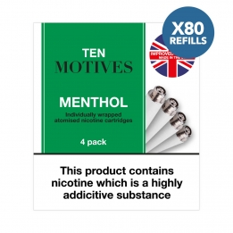 80 x Refill Cartridges - Ten Motives - Menthol Flavour Refills