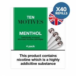 40 x Refill Cartridges - Ten Motives - Menthol Flavour Refills