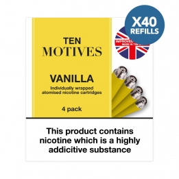 40 x Refill Cartridges - Ten Motives - Vanilla Flavour 16mg Refills